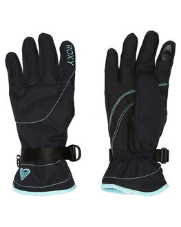 TRUE BLACK BOARDSPORTS SNOW ROXY GLOVES - ERJHN03070KVJ0