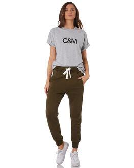 GREY MARLE W BLACK WOMENS CLOTHING C&M CAMILLA AND MARC TEES - VCMT7050GRYMA