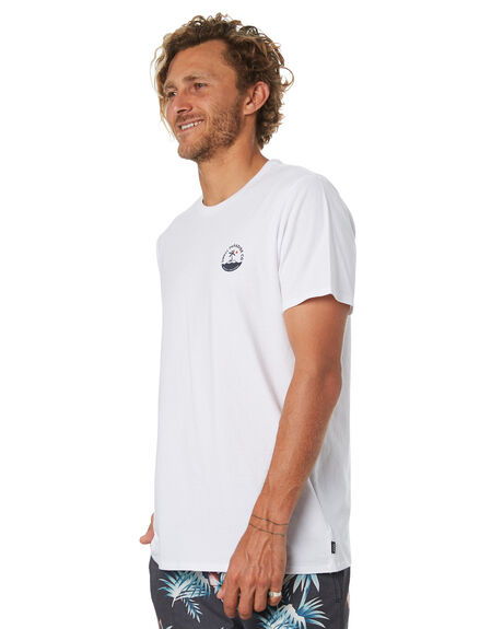 WHITE OUTLET MENS SWELL TEES - S5184040WHITE