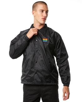 BLACK MENS CLOTHING PASS PORT JACKETS - R23REPCOACHBLK