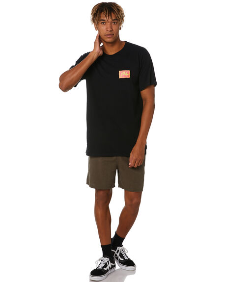 BLACK MENS CLOTHING RUSTY TEES - TTM2543BLK