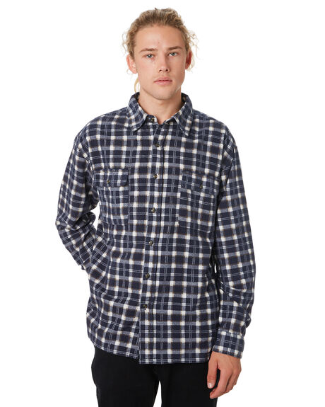 NAVY BLUE OUTLET MENS RUSTY SHIRTS - WSM0850NVB