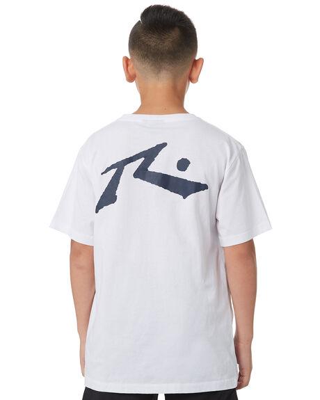 WHITE KIDS BOYS RUSTY TOPS - TTB0604WHT