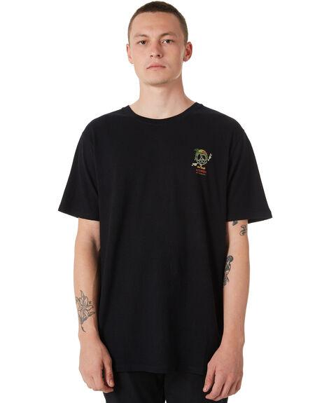 BLACK MENS CLOTHING AFENDS TEES - M182016BLK