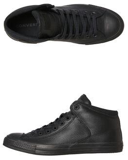 BLACK BLACK MENS FOOTWEAR CONVERSE SNEAKERS - 161473BKBK