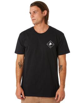 BLACK MENS CLOTHING SWELL TEES - S5201030BLACK