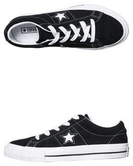 BLACK WHITE KIDS BOYS CONVERSE FOOTWEAR - 353061BKWH