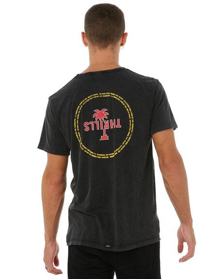 ACID BLACK MENS CLOTHING THRILLS TEES - TA8-111VBABLK