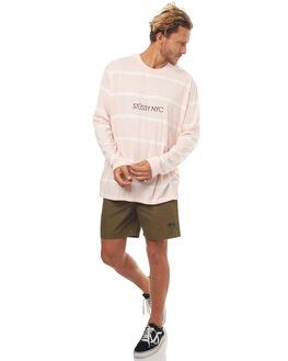 PINK MENS CLOTHING STUSSY TEES - ST071107PINK