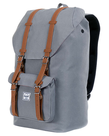 GREY MENS ACCESSORIES HERSCHEL SUPPLY CO BAGS + BACKPACKS - 10014-00006-OSGRY2