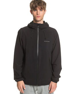 BLACK MENS CLOTHING QUIKSILVER JACKETS - EQYJK03560-KVJ0