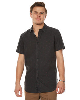 BLACK MENS CLOTHING GLOBE SHIRTS - GB01714010BLK