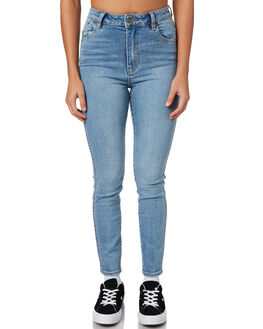 VALENTINE BLUE WOMENS CLOTHING ROLLAS JEANS - 125923770