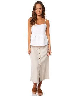 WHITE WOMENS CLOTHING RHYTHM FASHION TOPS - JUL18W-WT03WHT