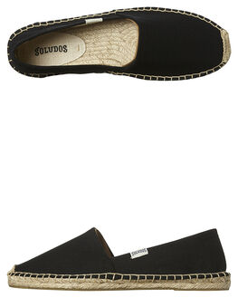 BLACK WOMENS FOOTWEAR SOLUDOS FLATS - FOR1001-001