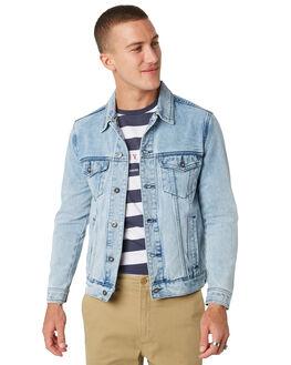 COBAIN BLUE MENS CLOTHING BARNEY COOLS JACKETS - 510-CC1BLUE