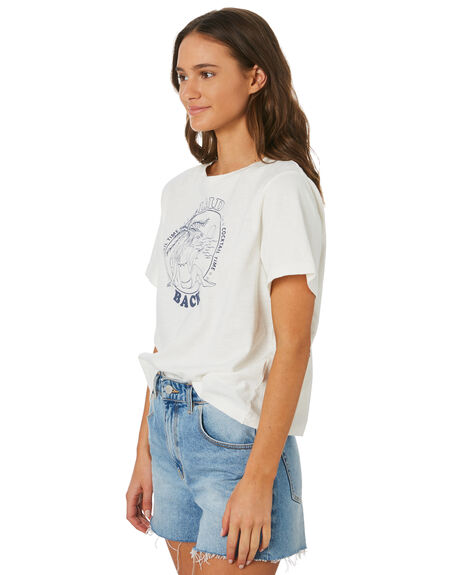 WHITE WOMENS CLOTHING THE HIDDEN WAY TEES - H8201005WHT