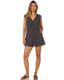 FADED BLACK WOMENS CLOTHING THRILLS PLAYSUITS + OVERALLS - WTS8-912FBBLK