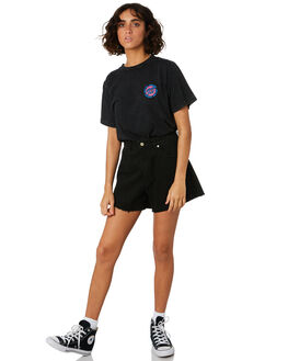 ACID BLACK WOMENS CLOTHING SANTA CRUZ TEES - SC-WTD9962ABLK