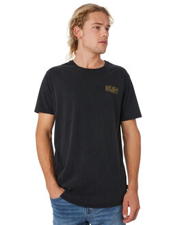 WASHED BLACK MENS CLOTHING SILENT THEORY TEES - 4033021WBLK