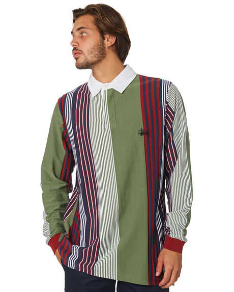 FLIGHT GREEN MENS CLOTHING STUSSY SHIRTS - ST097111FLTGRN