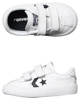 WHITE BLACK KIDS TODDLER BOYS CONVERSE FOOTWEAR - 758202WHI