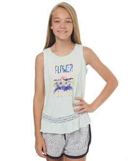 BLUE AQUA KIDS GIRLS EVES SISTER SINGLETS - 9900046BLU