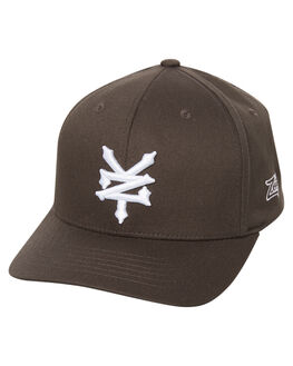 CHARCOAL MENS ACCESSORIES ZOO YORK HEADWEAR - ZY-MHNC011CHAR