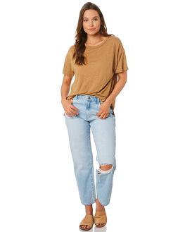 TAN WOMENS CLOTHING NUDE LUCY TEES - NU22801TAN