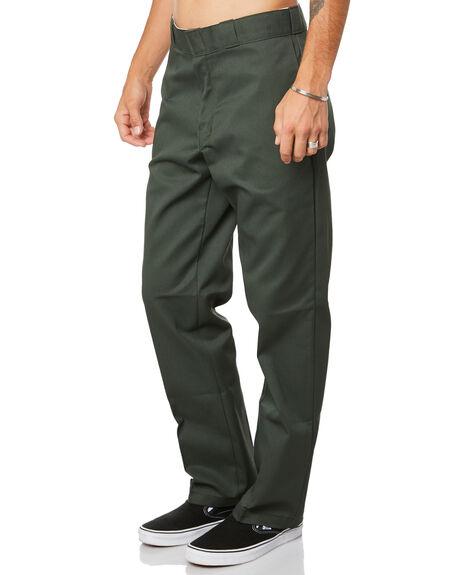 OLIVE GREEN MENS CLOTHING DICKIES PANTS - 874OGRN