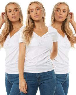 WHITE WOMENS CLOTHING SWELL TEES - S81820043PCKWHITE