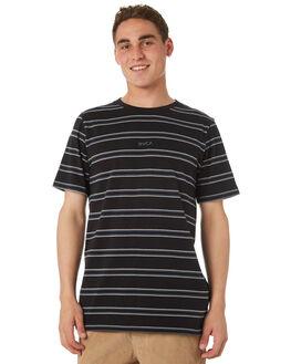 BLACK MENS CLOTHING RVCA TEES - R182051BLK