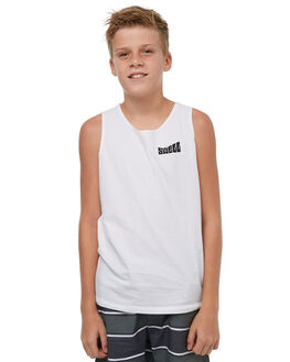 WHITE KIDS BOYS SWELL SINGLETS - S3183271WHITE