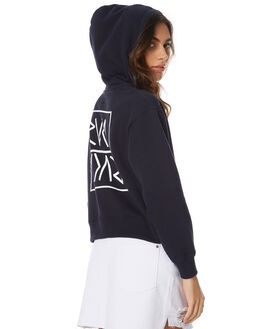 WASHED NAVY WOMENS CLOTHING RVCA JUMPERS - R271152NAVY