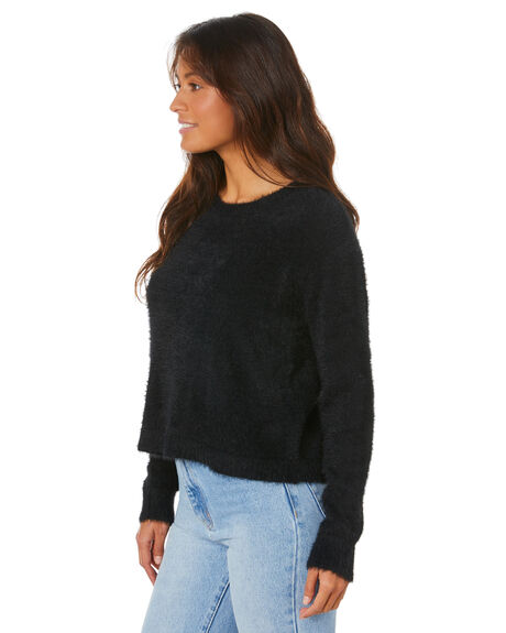 BLACK WOMENS CLOTHING ALL ABOUT EVE KNITS + CARDIGANS - 6436058BLK