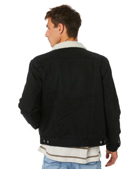 MID 90S BLACK MENS CLOTHING LEE JACKETS - L-606681-NS3