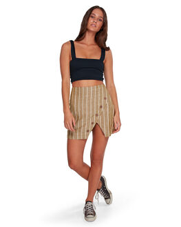 BRIGHT MOSS WOMENS CLOTHING BILLABONG SKIRTS - BB-6592530-TMS