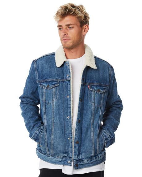 a21871bd37d Levi`S Type 3 Mens Sherpa Trucker Jacket - Indigo | SurfStitch