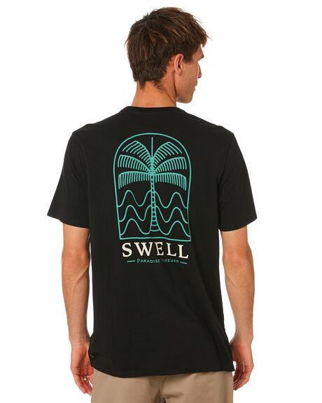 BLACK MENS CLOTHING SWELL TEES - S5212004BLACK