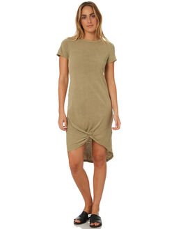 BEIGE WOMENS CLOTHING SILENT THEORY DRESSES - 6008016BEIG