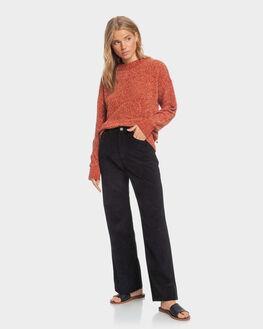 ANTHRACITE WOMENS CLOTHING ROXY PANTS - ERJNP03315-KVJ0