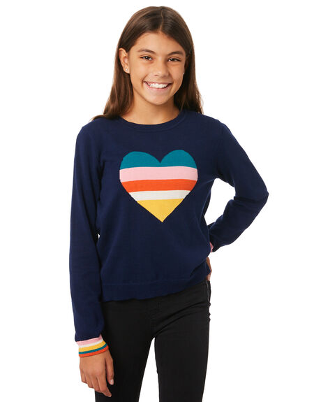 NAVY KIDS GIRLS EVES SISTER JUMPERS + JACKETS - 9530045NAVY