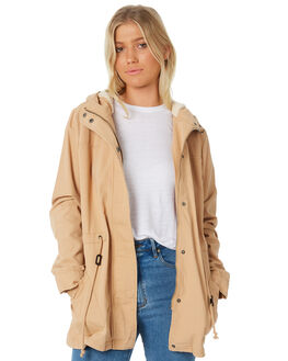 TAN WOMENS CLOTHING SWELL JACKETS - S8183383TAN