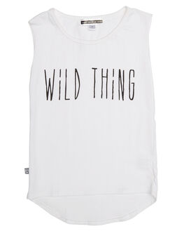 WHITE KIDS TODDLER GIRLS SWEET CHILD OF MINE SINGLETS - WILDTHINGMSCLWHT