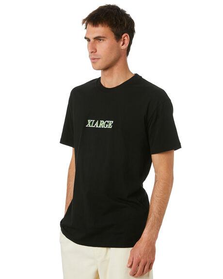 BLACK MENS CLOTHING XLARGE TEES - XL003001BLK
