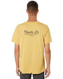 HERITAGE YELLOW MENS CLOTHING THRILLS TEES - TH9-110KHRYEL
