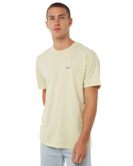 PASTEL YELLOW MENS CLOTHING STUSSY TEES - ST071000PYLW