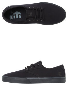 BLACK BLACK MENS FOOTWEAR ETNIES SKATE SHOES - 4101000477-003