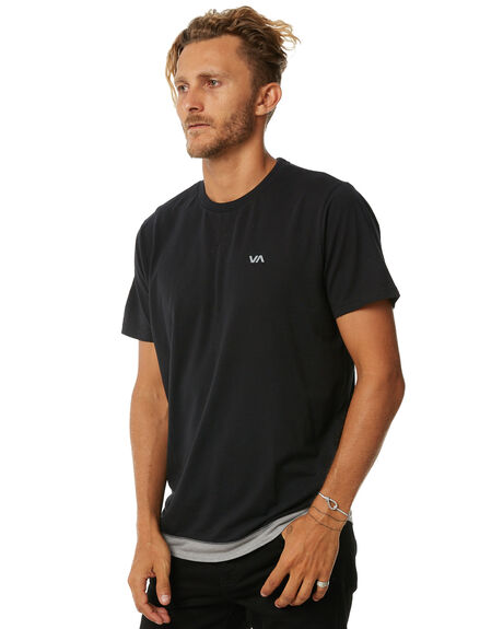 BLACK MENS CLOTHING RVCA TEES - R371006BLK