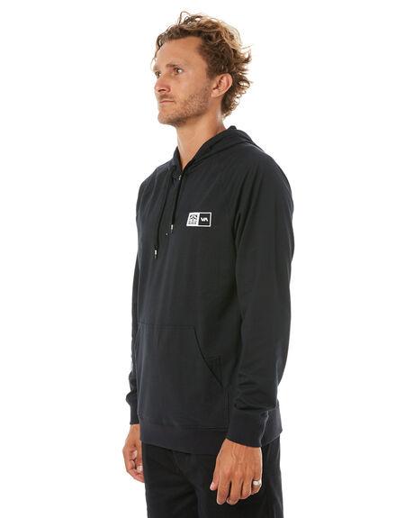 BLACK MENS CLOTHING RVCA JUMPERS - R371154BLK